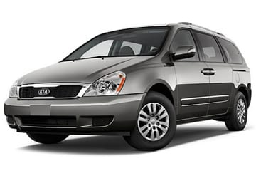 Photo of gray minivan